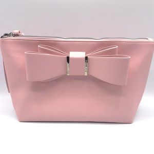 NWT Betsey Johnson  Pink Cosmetic Bag Large Bow